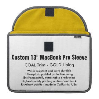 "Custom 13"" MacBook Pro Sleeve - Coal & Gold"