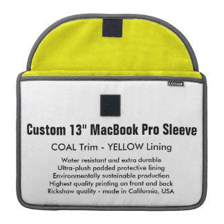 "Custom 13"" MacBook Pro Sleeve - Coal & Yellow"