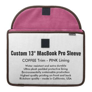 """Custom 13"""" MacBook Pro Sleeve - Coffee & Pink"""