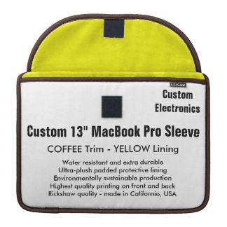 "Custom 13"" MacBook Pro Sleeve - Coffee & Yellow"