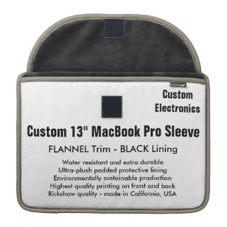 "Custom 13"" MacBook Pro Sleeve - Flannel & Black"
