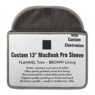 """Custom 13"""" MacBook Pro Sleeve - Flannel & Brown"""