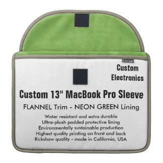 "Custom 13"" MacBook Pro Sleeve - Flannel & Green"