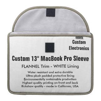 "Custom 13"" MacBook Pro Sleeve - Flannel & White"