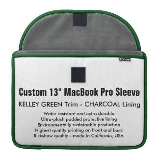 "Custom 13"" MacBook Pro Sleeve - Green & Charcoal"