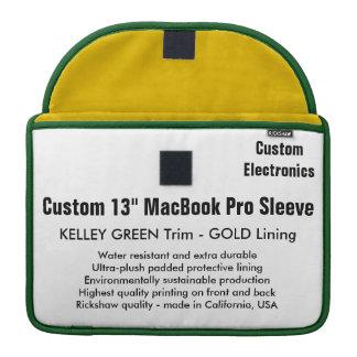 "Custom 13"" MacBook Pro Sleeve - Green & Gold"