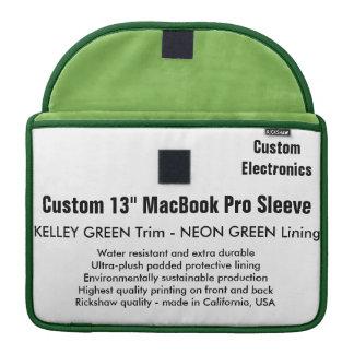 "Custom 13"" MacBook Pro Sleeve - Green & Neon Green"