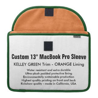 "Custom 13"" MacBook Pro Sleeve - Green & Orange"