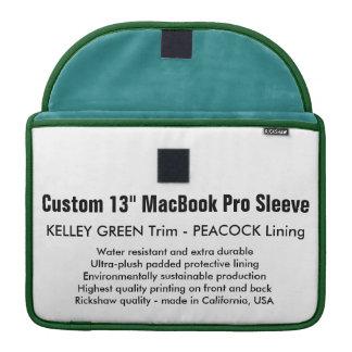 "Custom 13"" MacBook Pro Sleeve - Green & Peacock"