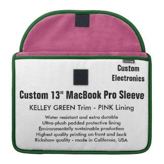 "Custom 13"" MacBook Pro Sleeve - Green & Pink"