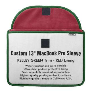 "Custom 13"" MacBook Pro Sleeve - Green & Red"