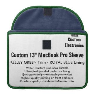 "Custom 13"" MacBook Pro Sleeve - Green & Royal Blue"