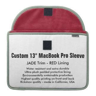 """Custom 13"""" MacBook Pro Sleeve - Jade & Red"""