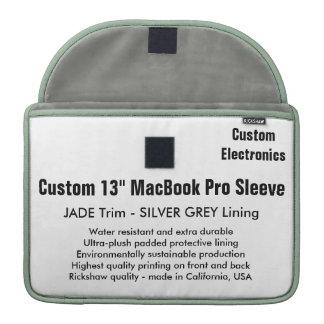 """Custom 13"""" MacBook Pro Sleeve - Jade & Silver"""