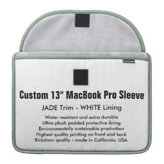"Custom 13"" MacBook Pro Sleeve - Jade & White"
