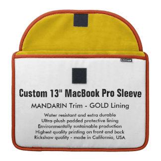 "Custom 13"" MacBook Pro Sleeve - Mandarin & Gold"