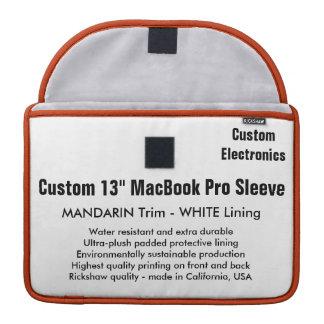 "Custom 13"" MacBook Pro Sleeve - Mandarin & White"