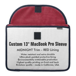"Custom 13"" MacBook Pro Sleeve - Midnight & Red"