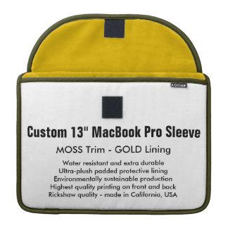 "Custom 13"" MacBook Pro Sleeve - Moss & Gold"