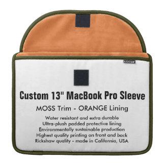 "Custom 13"" MacBook Pro Sleeve - Moss & Orange"