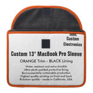 "Custom 13"" MacBook Pro Sleeve - Orange & Black"