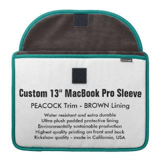 """Custom 13"""" MacBook Pro Sleeve - Peacock & Brown"""