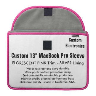 """Custom 13"""" MacBook Pro Sleeve - Pink & Silver"""