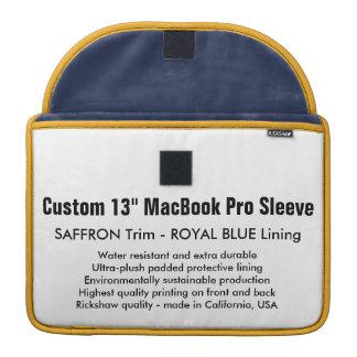 "Custom 13"" MacBook Pro Sleeve - Saffron & Blue"