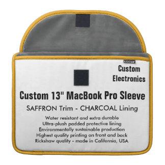 "Custom 13"" MacBook Pro Sleeve - Saffron & Gray"