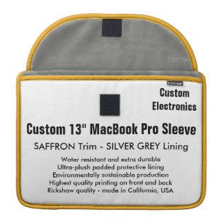 "Custom 13"" MacBook Pro Sleeve - Saffron & Silver"