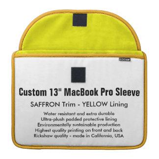 "Custom 13"" MacBook Pro Sleeve - Saffron & Yellow"