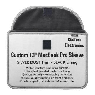 "Custom 13"" MacBook Pro Sleeve - Silver Dust, Black"