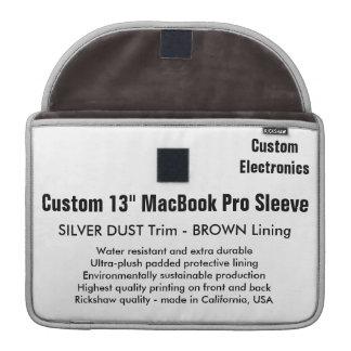 """Custom 13"""" MacBook Pro Sleeve - Silver Dust, Brown"""