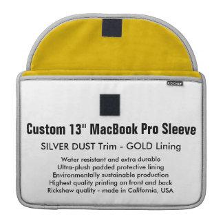 "Custom 13"" MacBook Pro Sleeve - Silver Dust & Gold"