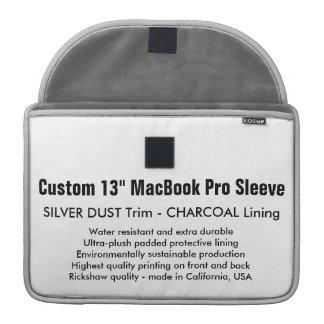 "Custom 13"" MacBook Pro Sleeve - Silver Dust & Gray"
