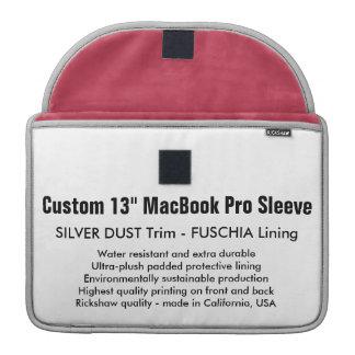 "Custom 13"" MacBook Pro Sleeve - Silver & Fuschia"