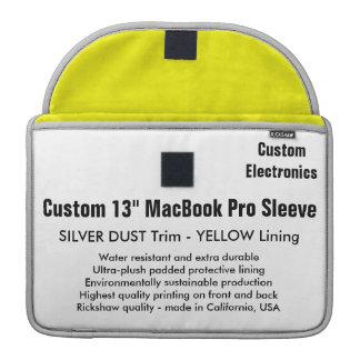 "Custom 13"" MacBook Pro Sleeve - Silver & Yellow"