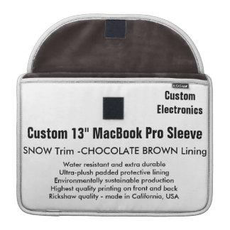 """Custom 13"""" MacBook Pro Sleeve - Snow & Brown"""