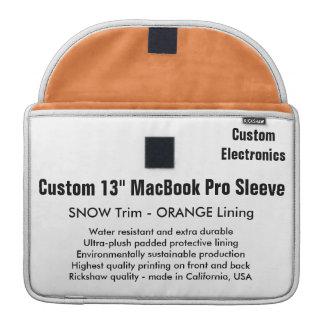 "Custom 13"" MacBook Pro Sleeve - Snow & Orange"