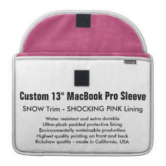 "Custom 13"" MacBook Pro Sleeve - Snow & Pink"