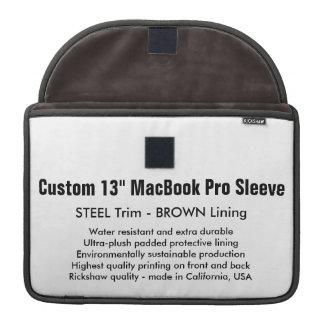 """Custom 13"""" MacBook Pro Sleeve - Steel & Brown"""