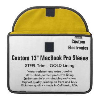 "Custom 13"" MacBook Pro Sleeve - Steel & Gold"