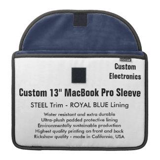 """Custom 13"""" MacBook Pro Sleeve - Steel & Royal Blue"""