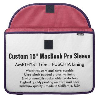 "Custom 15"" MacBook Pro Sleeve - Amethyst & Fuschia"