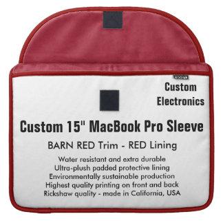 "Custom 15"" MacBook Pro Sleeve - Barn Red & Red"