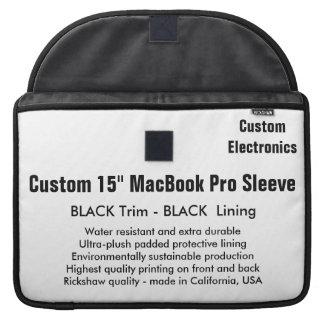 "Custom 15"" MacBook Pro Sleeve - Black & Black"