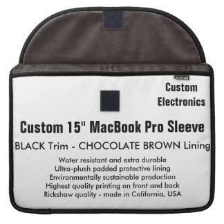 """Custom 15"""" MacBook Pro Sleeve - Black & Brown"""