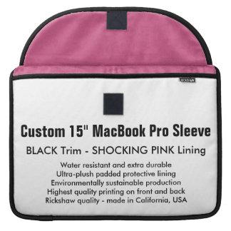 """Custom 15"""" MacBook Pro Sleeve - Black & Pink"""