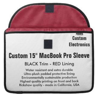 """Custom 15"""" MacBook Pro Sleeve - Black & Red"""