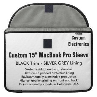 "Custom 15"" MacBook Pro Sleeve - Black & Silver"